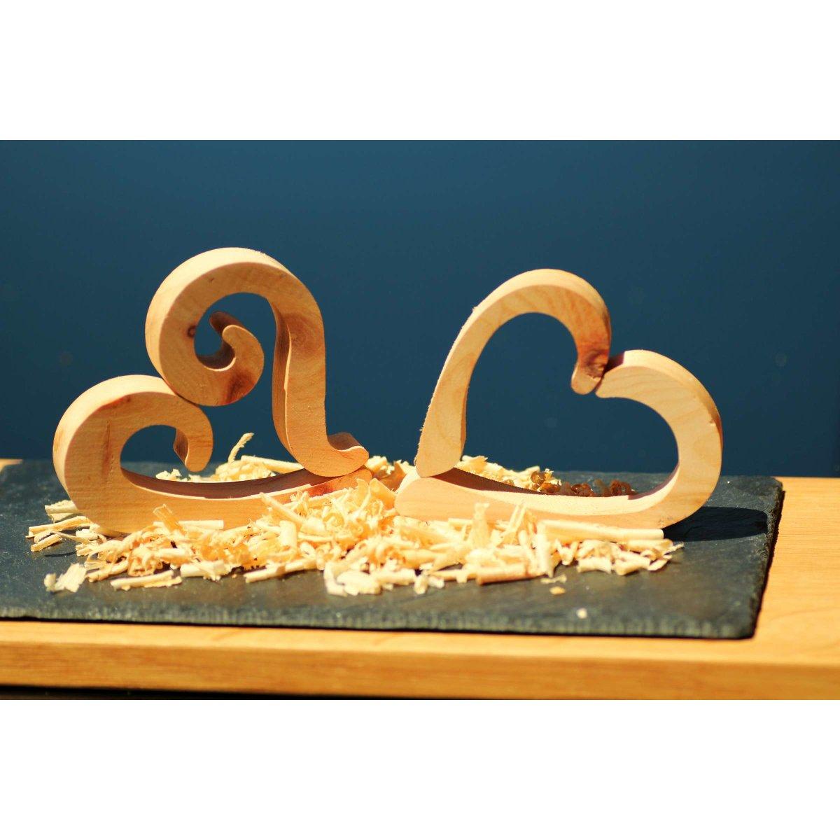 Herzen aus zirbenholz gro deko set swing 5 teilig for Holzherzen deko